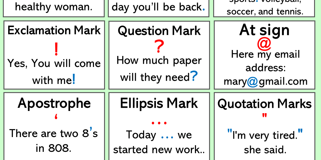 Punctuation Marks Archives - English Grammar Here