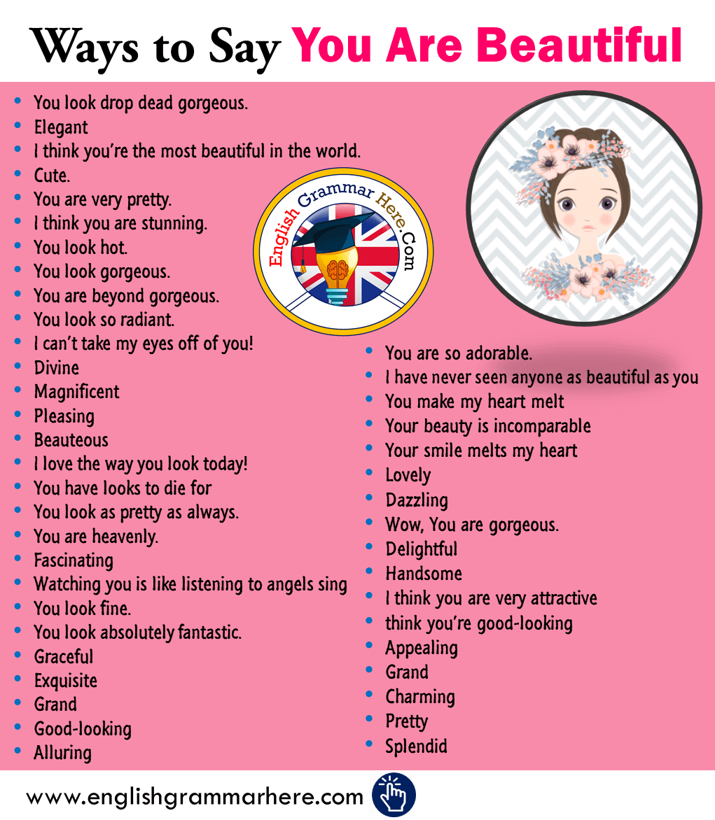 +45 Ways to Say YOU ARE BEAUTIFUL in English
