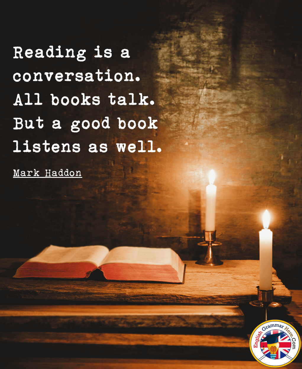 reading quotes saying