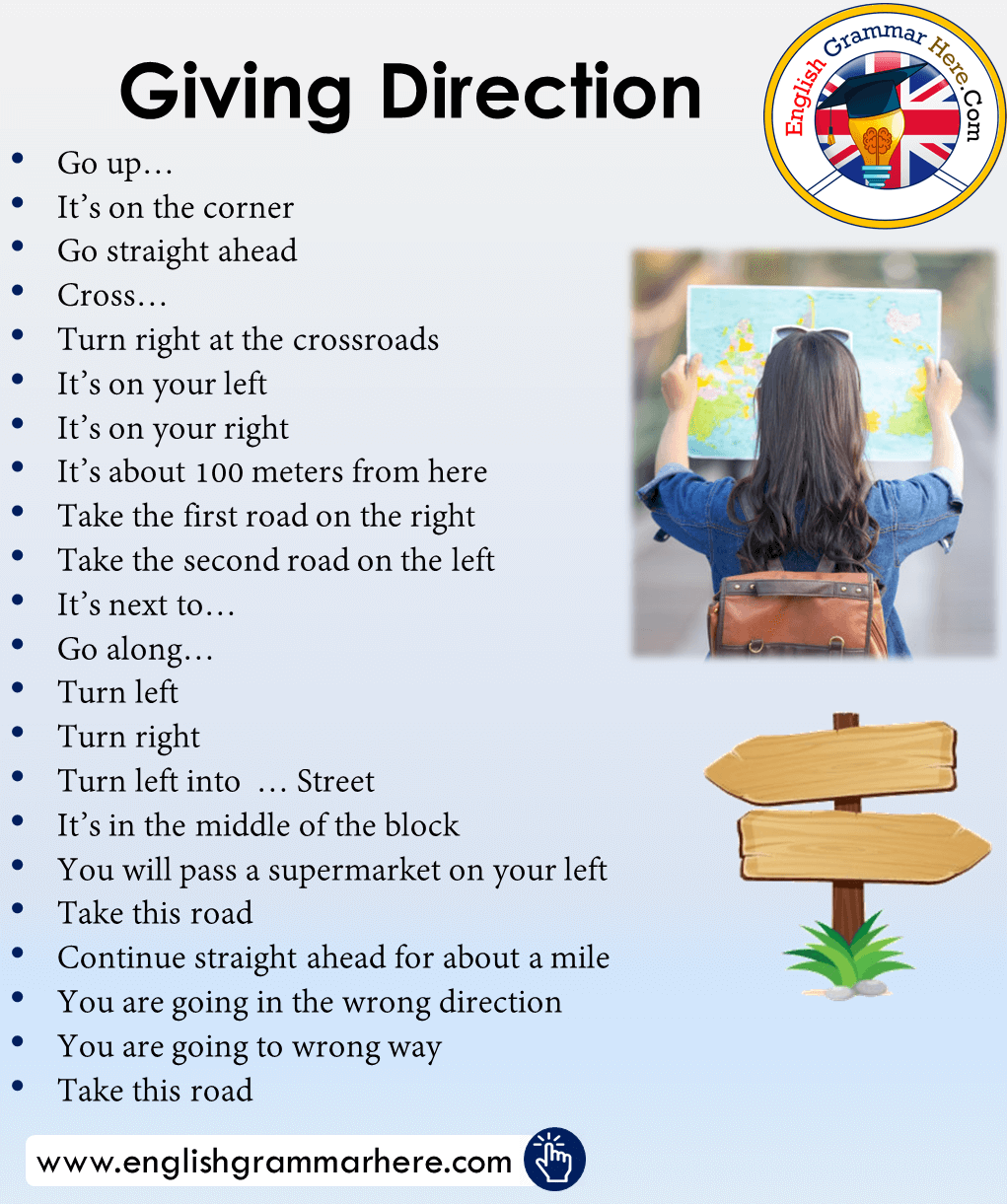 Giving Direction Phrases in English