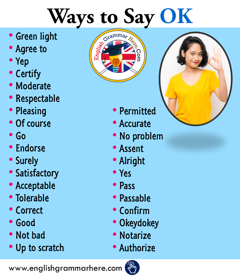 Different Ways To Say OK in English