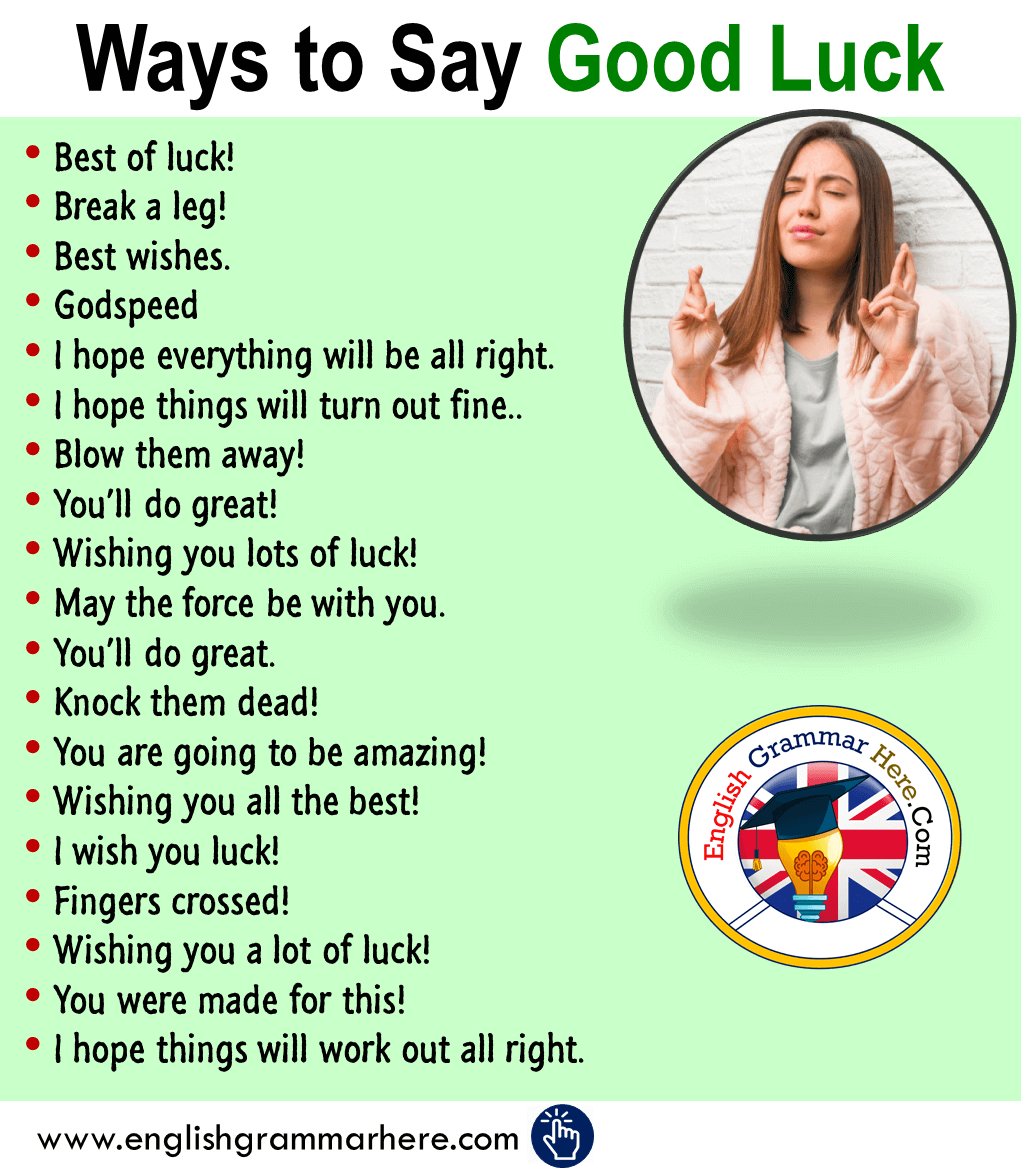 Ways to Say Good Luck in English