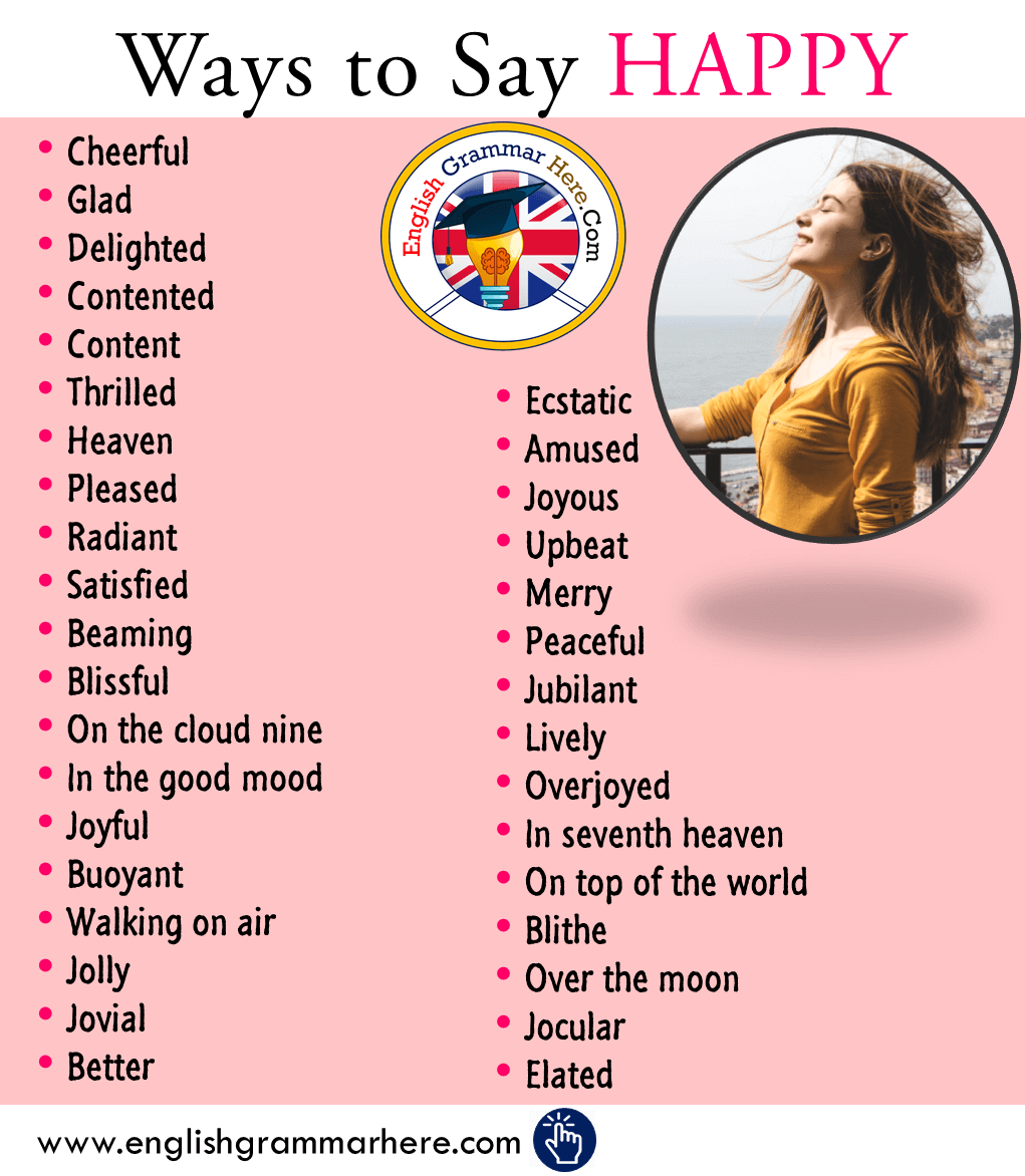 Ways to Say HAPPY in English