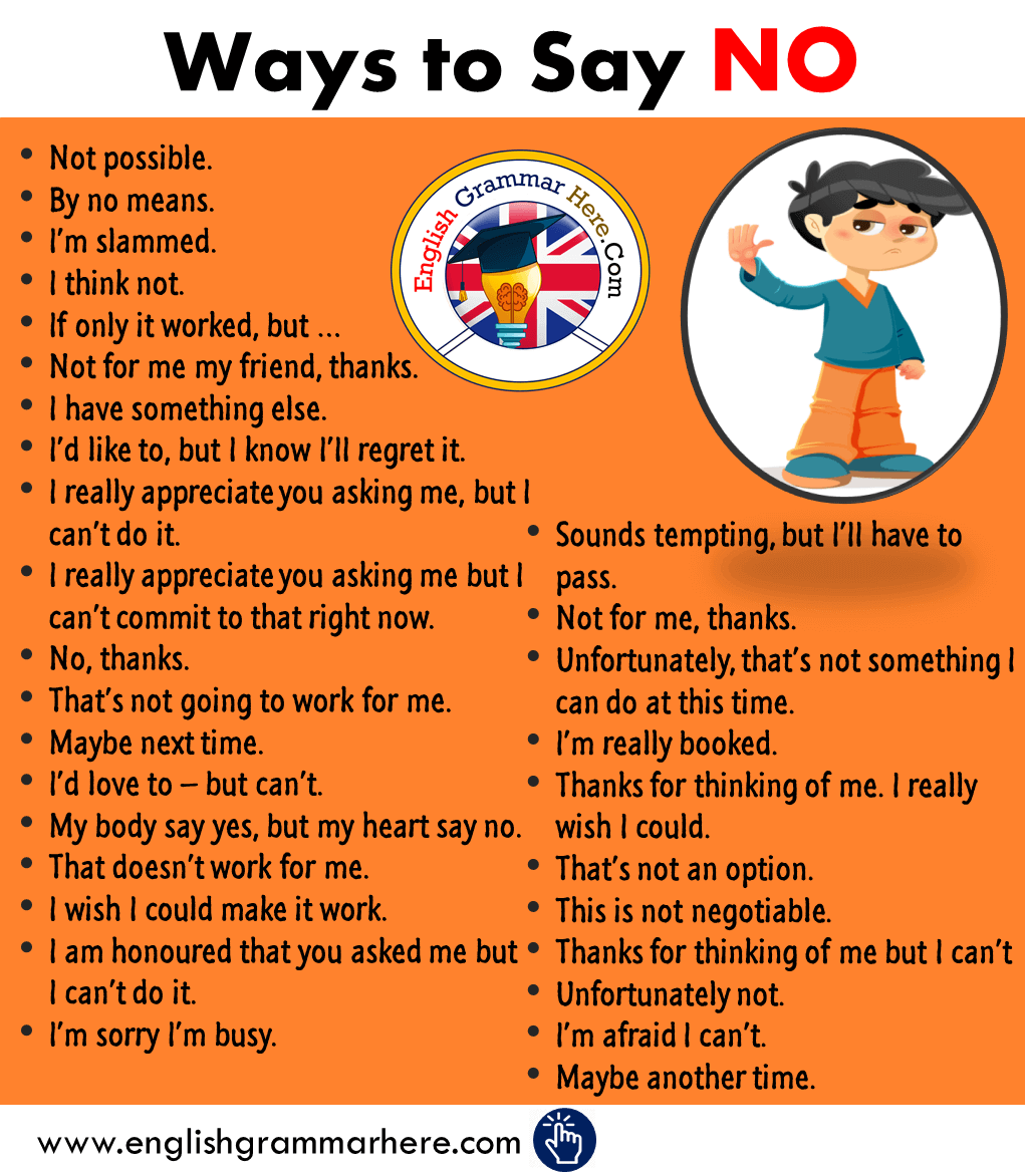 Ways to Say NO in English