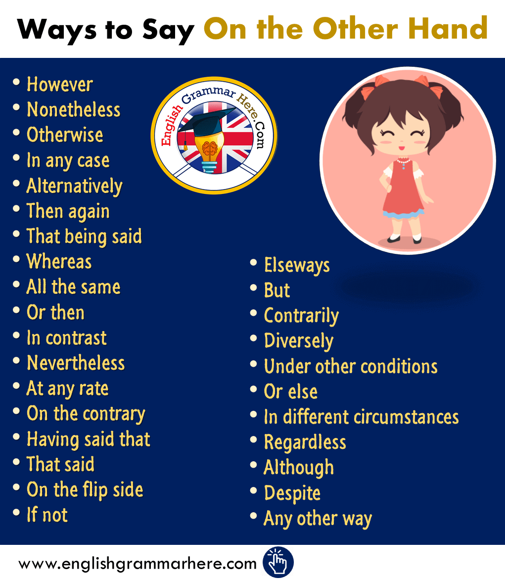 29 Ways to Say On the Other Hand, However in English