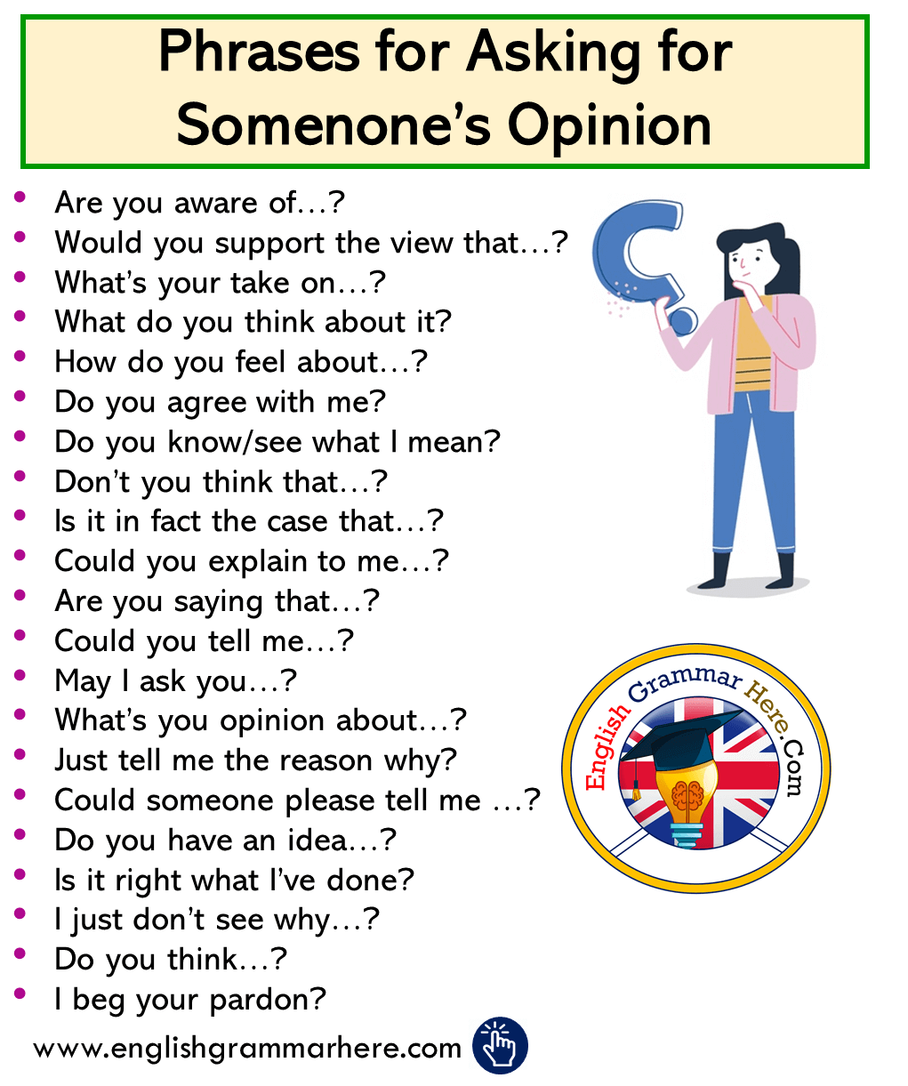 ENglish Phrases for Asking for Somenone's Opinion
