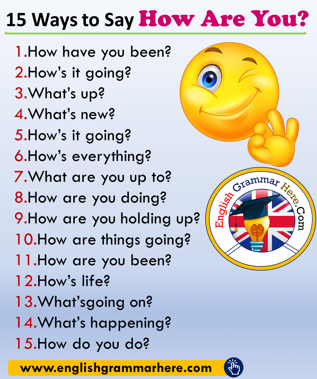 15 Ways to Say How Are You? in English
