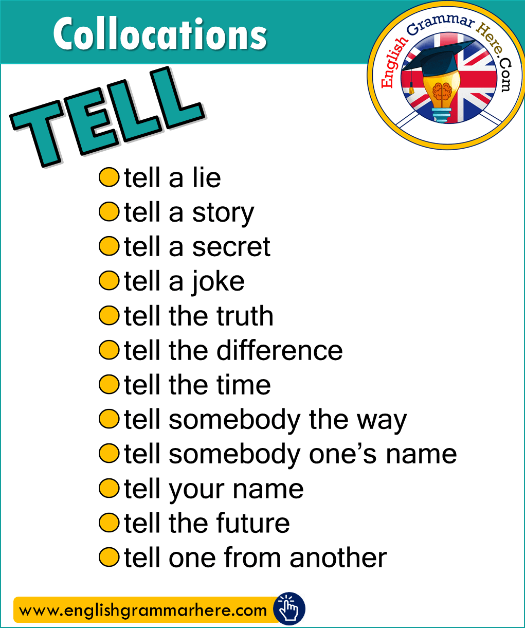 Collocations with TELL in English
