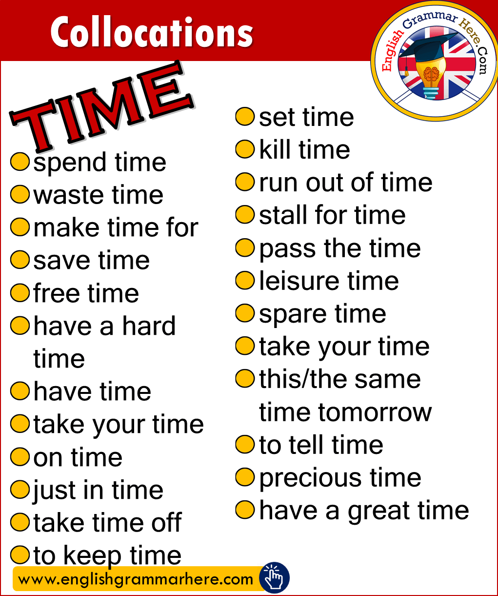 Collocations with TIME in English