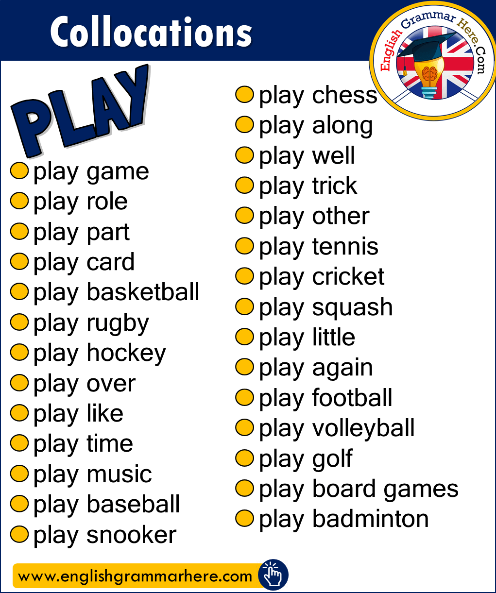 English Phrases, Collocations with PLAY