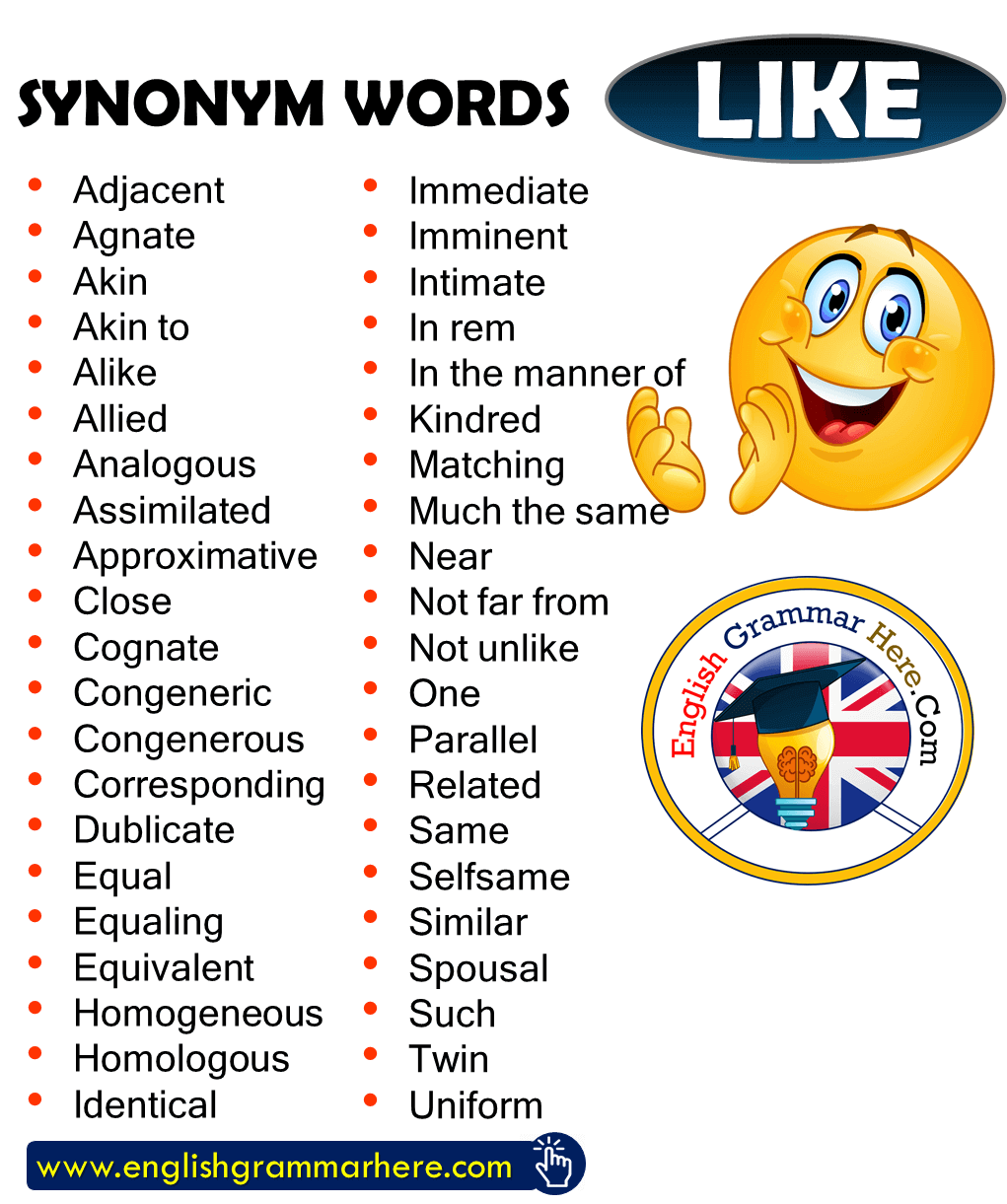 Synonym Words – LIKE, English Vocabulary