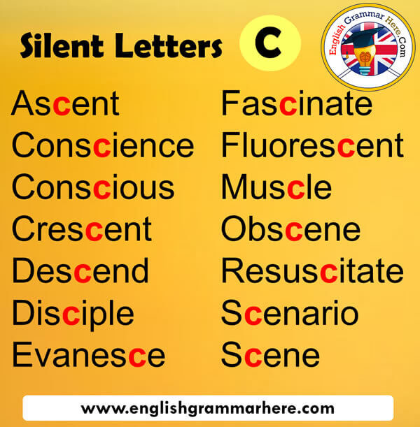 Silent Letters in English C