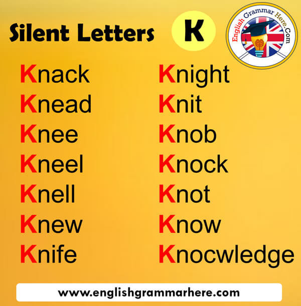 Silent Letters in English K