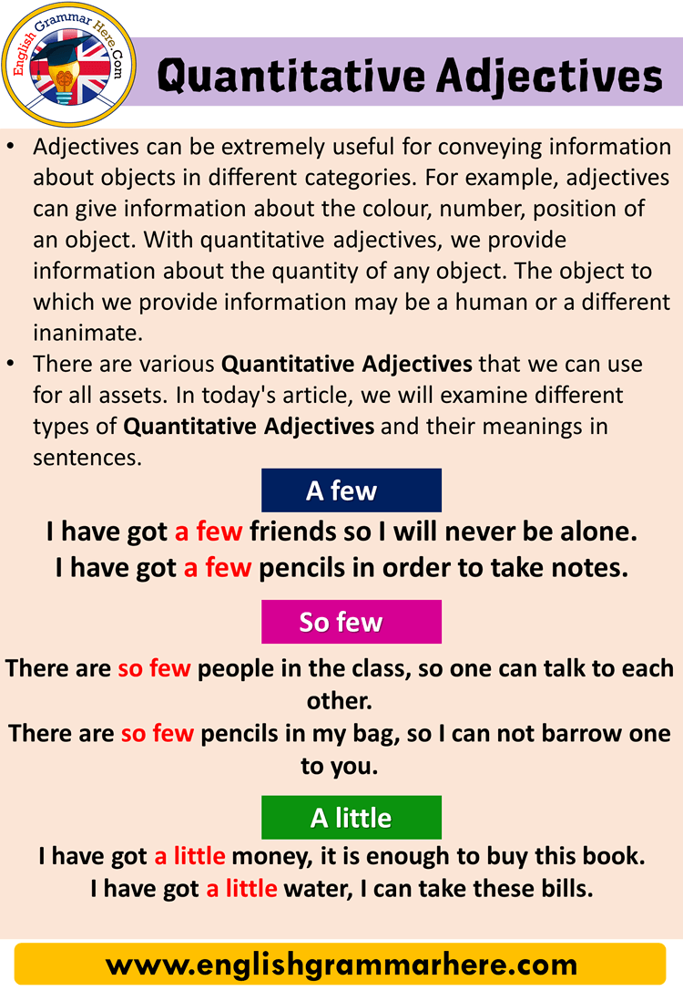 Quantitative Adjectives in English - English Grammar Here