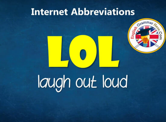 Common Internet Abbreviations, Chat Acronyms List