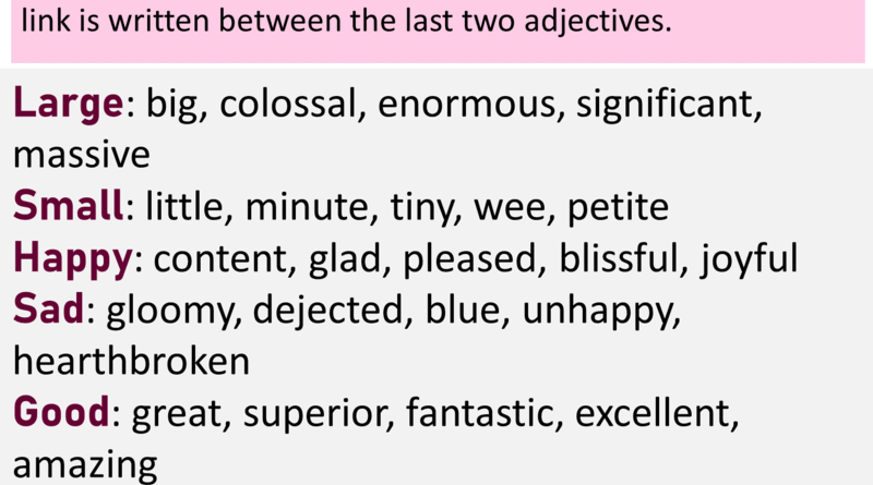 Descriptive Adjectives, Definition and Examples
