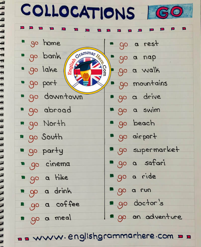 Collocations with Go - English Phrases