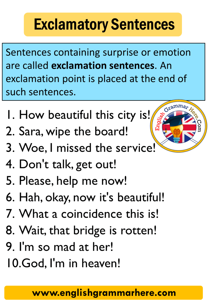Exclamatory Sentence 10 Examples