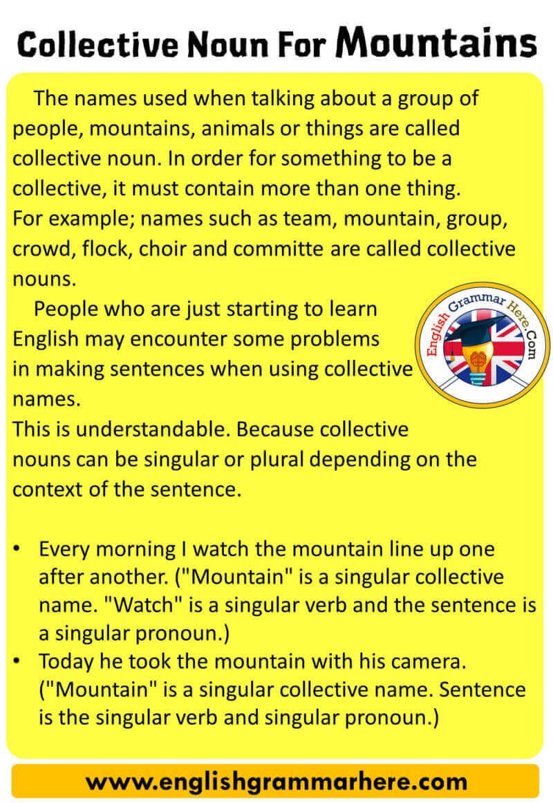 Collective Noun For Mountains, Definition and Examples