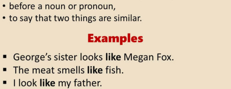 How To Use LIKE in English, Definition and Example Sentences