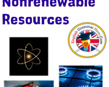 Nonrenewable Resources, Examples of Nonrenewable Resources