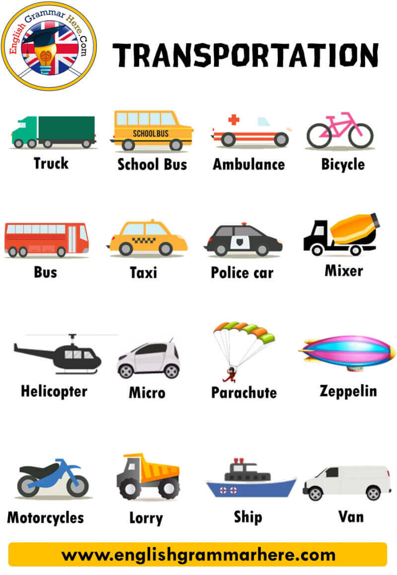 Transportation Names, Definition and Examples