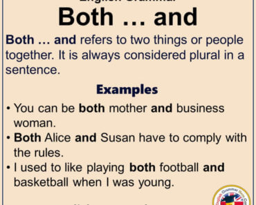 English Grammar - Using Both ... and, Definiton and Example Sentences