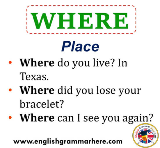 English Question Words, Meaning and Example Sentences ...