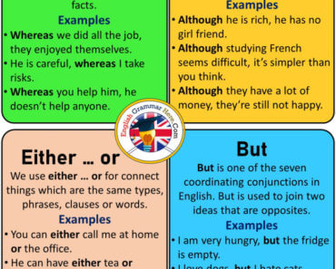 How To Use Whereas, Although, Either ... or, But, Definition and Examples