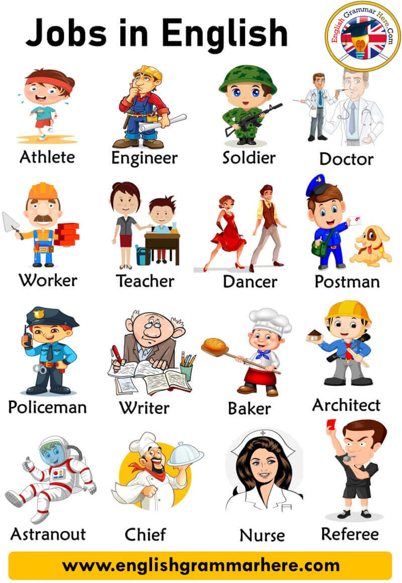 Jobs and Occupations Names with Pictures in English