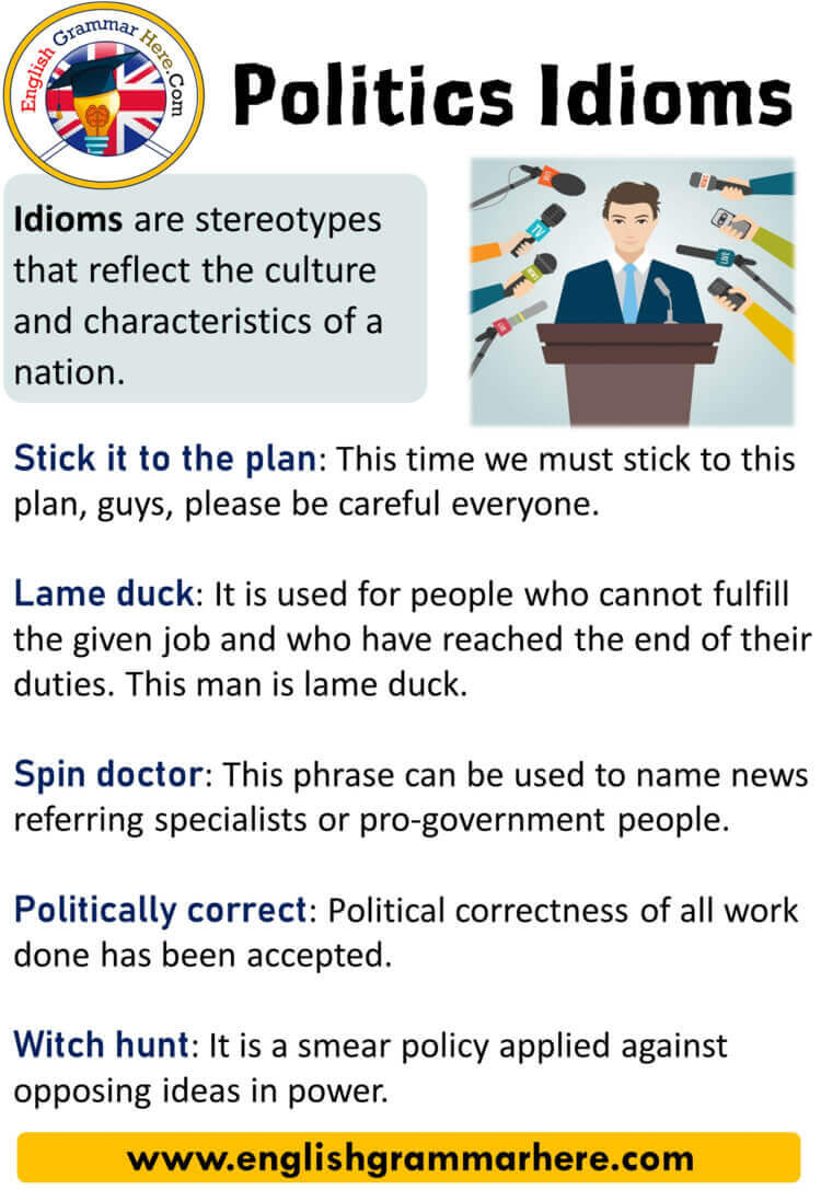 Politics Idioms, Definition and Examples