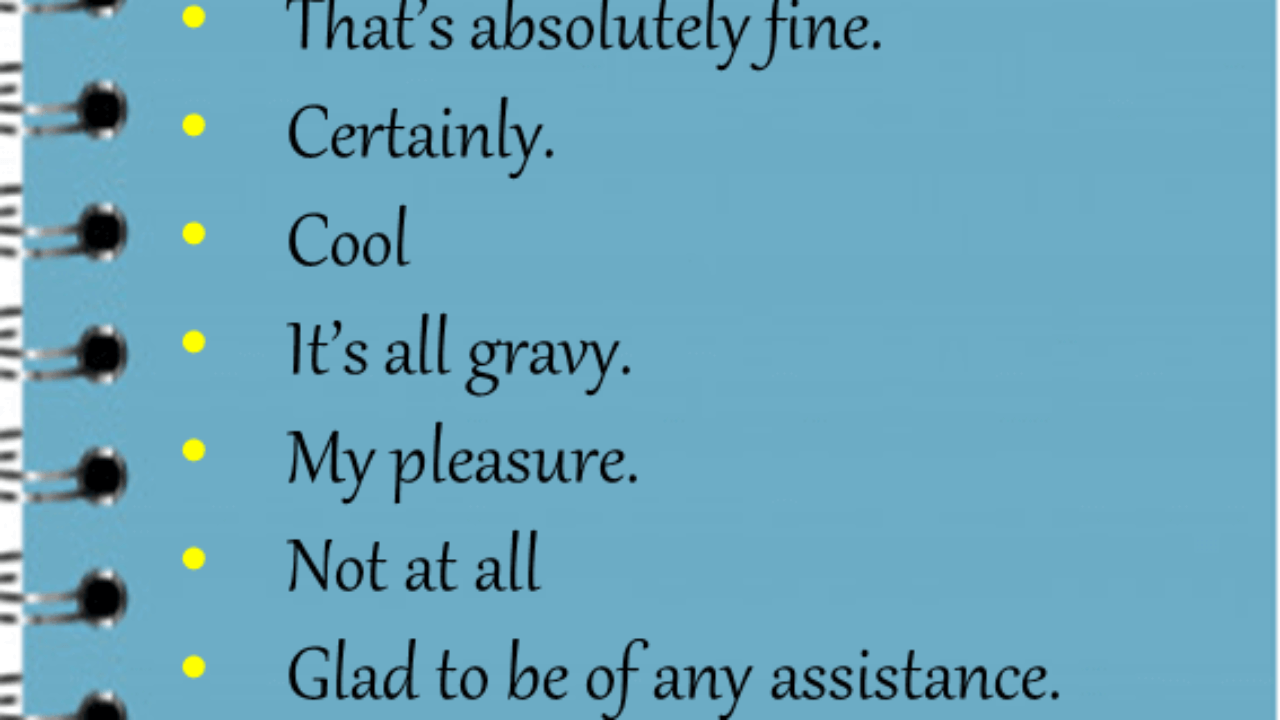 20 Saying You are Welcome Phrases in English   English Grammar Here