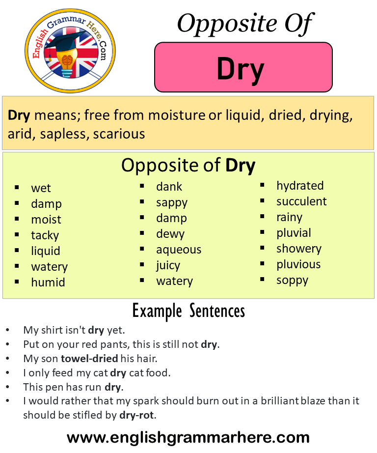 Dry what mean does texting DRY