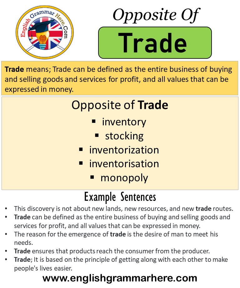 use trade in a sentence