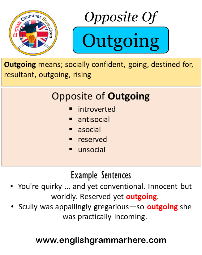 Opposite Of Outgoing, Antonyms Of Outgoing, Meaning And Example Sentences -  English Grammar Here